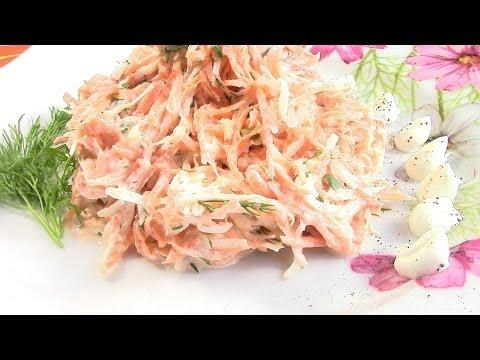 Витаминный салат из черной редьки и моркови.Витаминная бомба.
