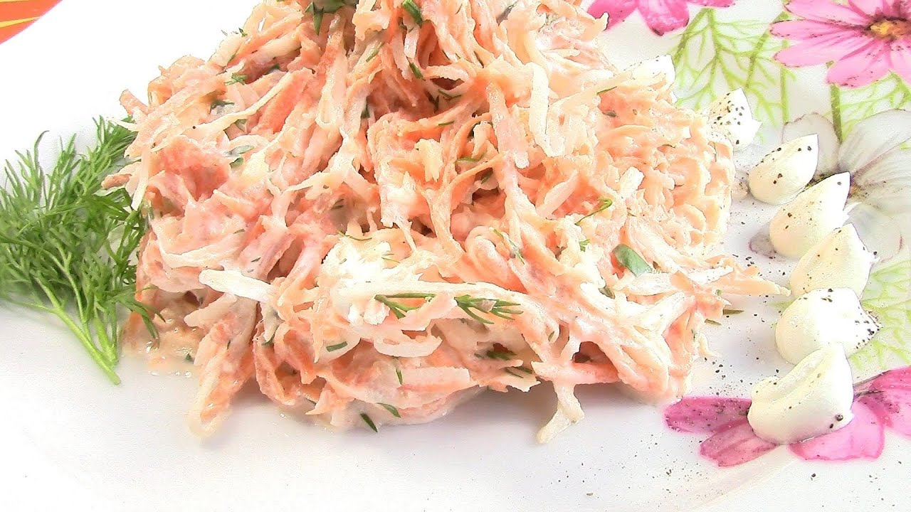 Редька черная рецепты приготовления салаты с фото