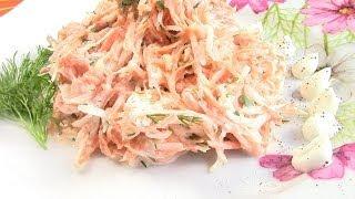 Витаминный салат из черной редьки и моркови.Витаминная