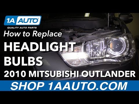 How to Remove Replace Headlight Bulbs 2010 Mitsubishi Outlander