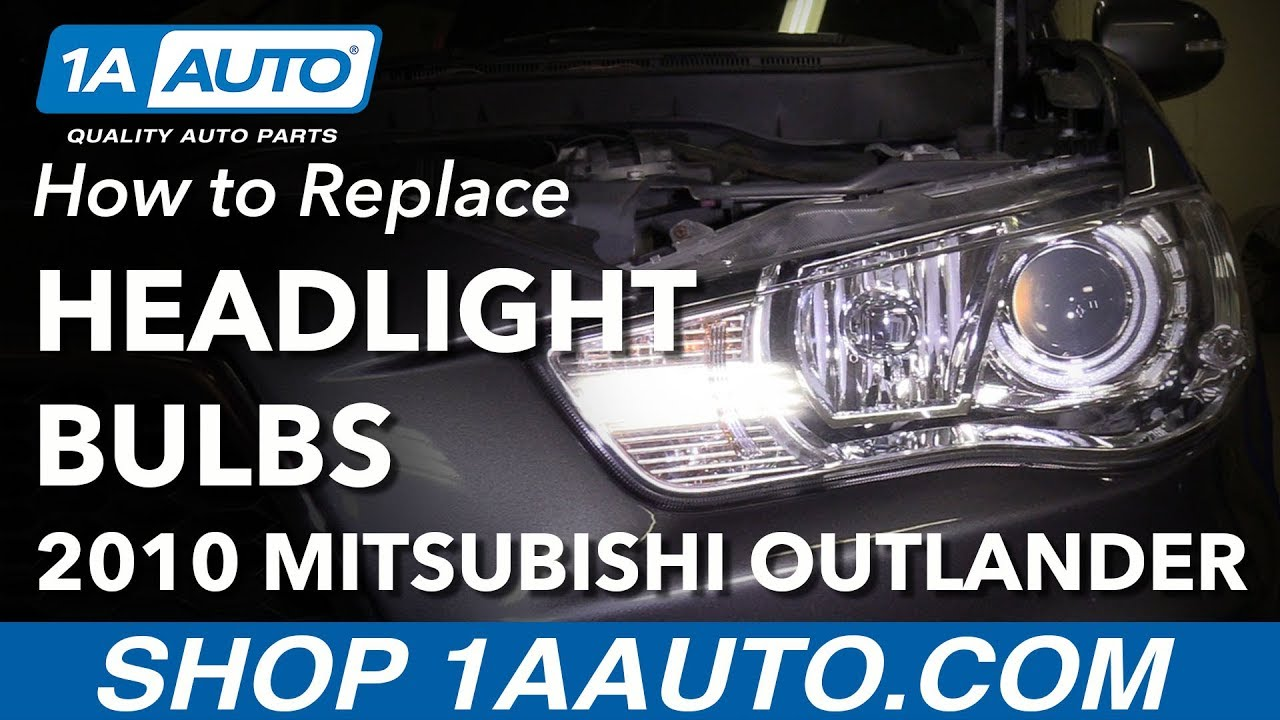 How to Replace Headlight Bulbs 07-13 Mitsubishi Outlander