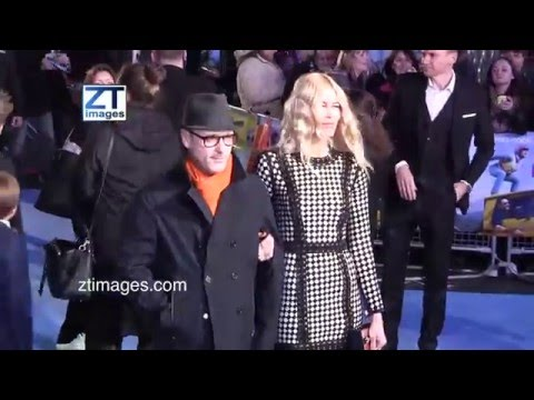 Matthew Vaughn and Claudia Schiffer at the film premiere Eddie the Eagle in London, UK