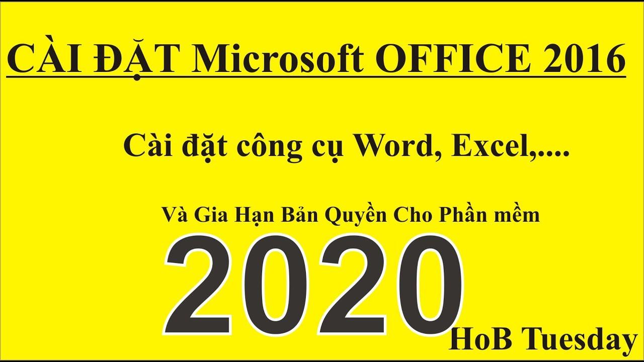 Cài Đặt Microsoft Office 2016 #caidatexcel2016#caidatoutlook2016#hobtuesday
