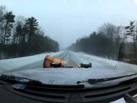 Blizzard 2013 Snow Plowing for Massachusetts Highway D.O.T