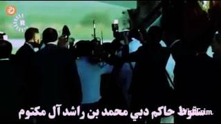 شاهد  سقوط حاكم الإمارات والرئيس اللبناني في قمة الأردن