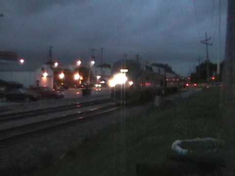 Trains Video; AMTRAK in Bloomington-Normal, IL ~2007