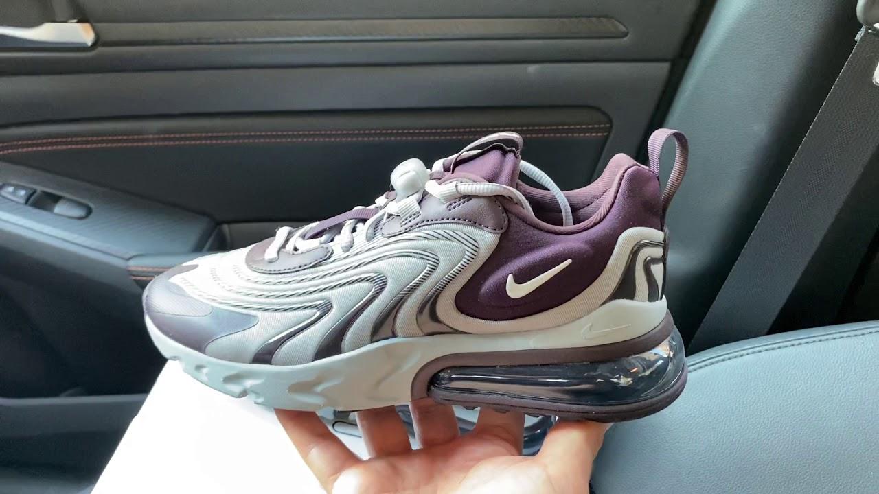 Nike Air Max 270 React Eng Burgundy Ash Womens Shoes Youtube
