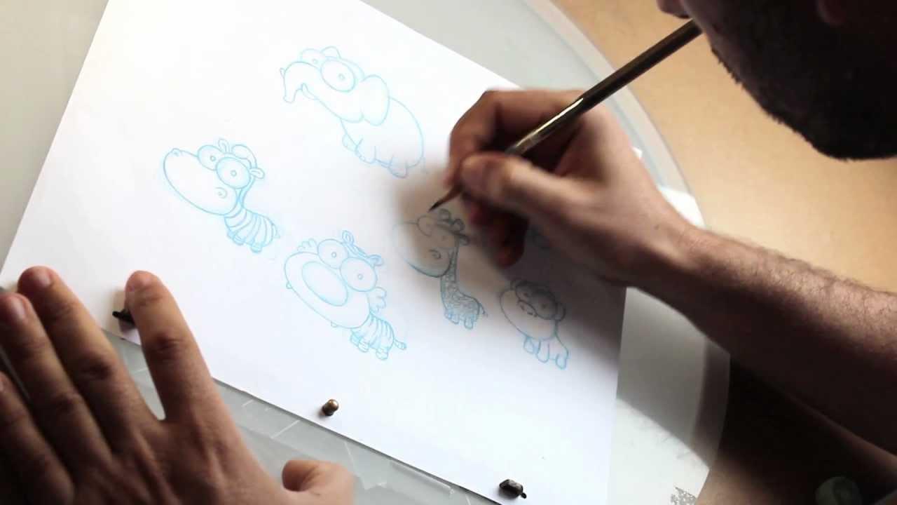 Cómo se hacen los dibujos animados. - YouTube