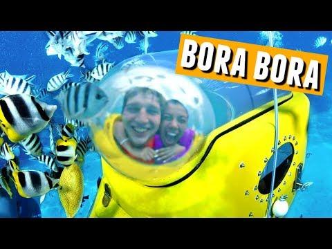 Under Water Submarine Scooter Ride in BORA BORA!🌴🌞🌊