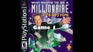 Me Playing Who Wants to be a Millionaire 3rd Edition for the PS1