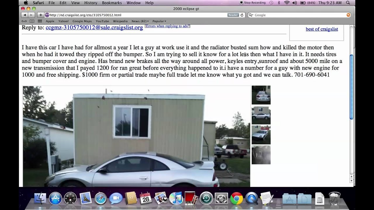 Craigslist North Dakota Search All Of The State For Used Cars - May best craigslist ad car ever