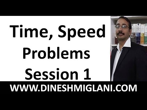 Difficult Time Speed Problems  Session 1 with Best Tricks and Shortcuts