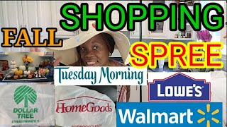 FALL SHOPPING SPREEAT 5 RETAIL STORES