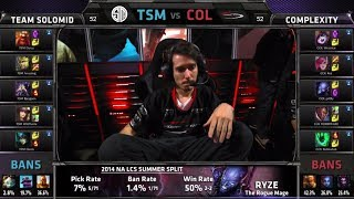 TSM vs compLexity | S4 NA LCS Summer split 2014 SuperWeek 7 Day 3 | TSM vs COL W7D3 G4