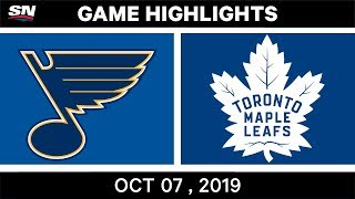 NHL Highlights | Blues vs. Maple Leafs - Oct. 07, 2019