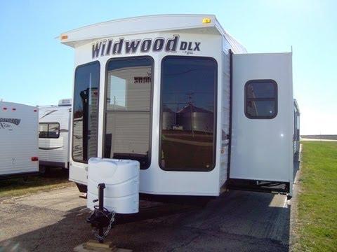 WILDWOOD DLX 353FLFB TRAVEL TRAILER PARK MODEL VIDEO TOUR