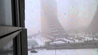 varyap meridian ofis kar manzarası