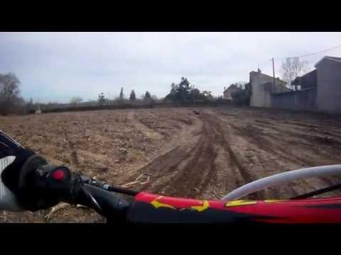 séquence de moto avec ma dirt 125 bse bosuer