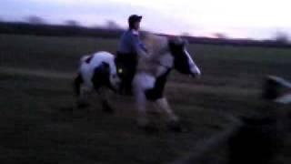 Leah falling off Spotty