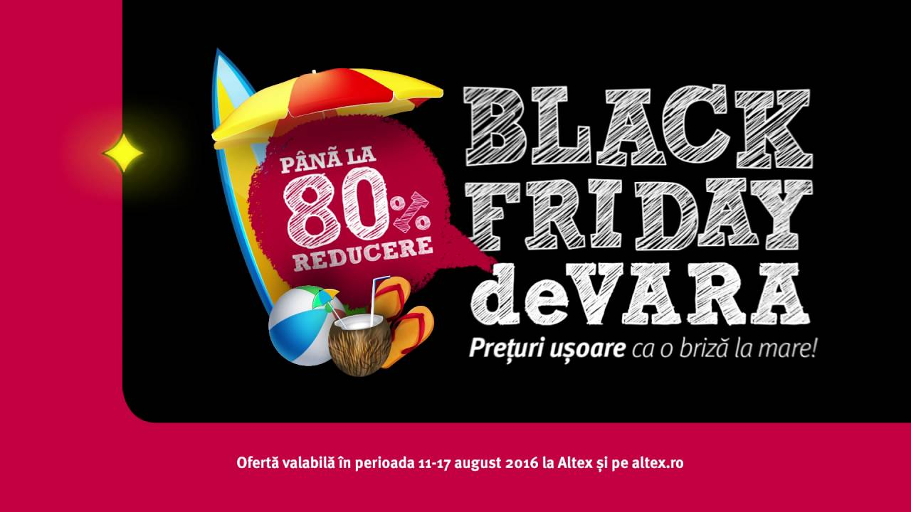 Ofertele ALTEX pentru Black Friday 2019 – ce nu trebuie ratat   Altex Black Friday