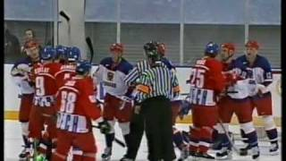 Salt Lake 2002 Olympics Hockey, Quarterfinal CZE - RUS