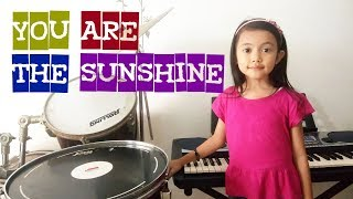 Belajar Piano Keybord Anak, You are the sunshine
