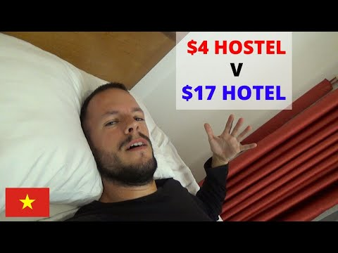 WHICH IS BETTER? $4 HOSTEL V $17 HOTEL - HANOI VIETNAM