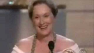 "Meryl Streep winning Emmy for ""Angels in America"""
