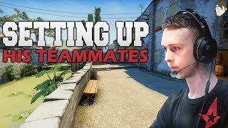 How Gla1ve Sets Up his Teammates for Success