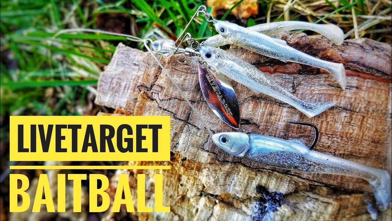 Choose Color NEW! LiveTarget Live Target Baitball Spinner Rig 1//2 oz M Size