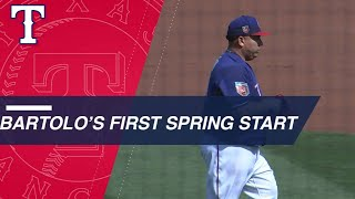 Bartolo Colon makes his first start of the spring with the Rangers