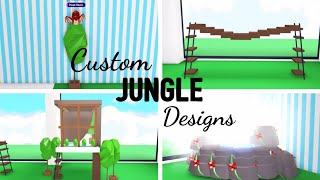 4 Custom JUNGLE Design Ideas & Building Hacks (Roblox Adopt me) | Its SugarCoffee