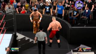 WWE 2K15 PC Gameplay: OMG! Moment - F5 through the announce table (AMD Radeon R9 295x2)