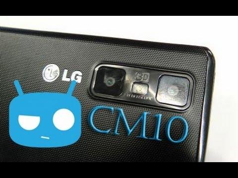 CM10 LG Optimus 3D Max Android 4.1.2