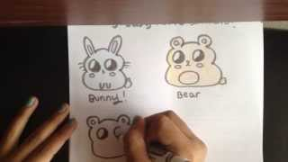 How to draw 3 cute chibi animals!