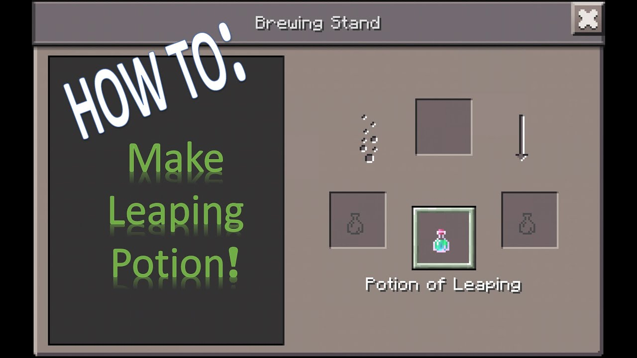 How to make leaping potion in minecraft pe