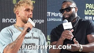 JAKE PAUL & TYRON WOODLEY ERUPT FOR 3RD TIME; TRADE TRASH TALK IN HOMETOWN OF PAUL
