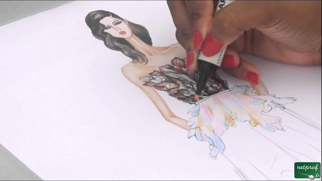 Assez Dessin de mode robe ELIE SAAB - YouTube SA15