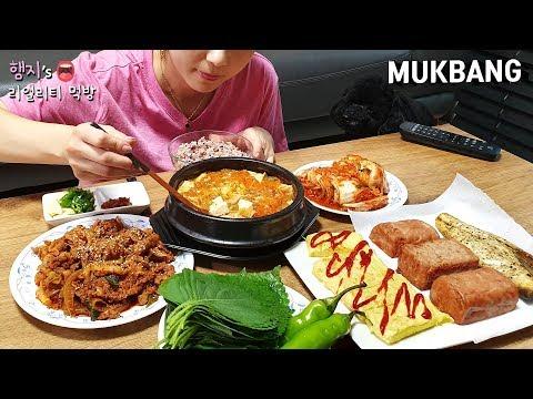 리얼먹방:) 내가 좋아하는 밥도둑 반찬들로★집밥먹방!!ㅣKorean home made foodㅣ韓国家庭料理ㅣMUKBANGㅣEATING SHOW