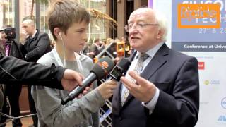 Michael D. Higgins, President of Ireland, talks to Riptide TV