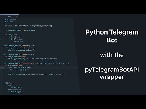 Python Telegram Bot With PyTelegramBotAPI