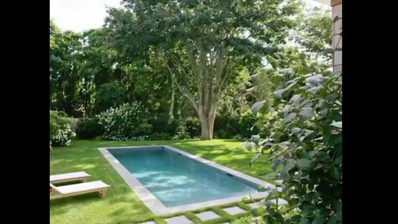 Small pool or spa for small backyard ideas youtube for Big garden pools