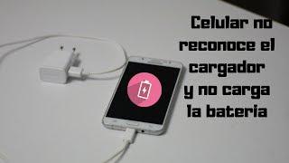 Celular no reconoce el cargador y no carga la bateria