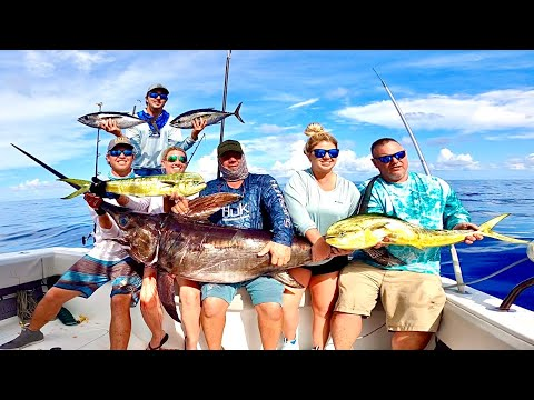 OFFSHORE FISHING SLAM! Tuna, Mahi, and Swordfish off the Florida Keys!