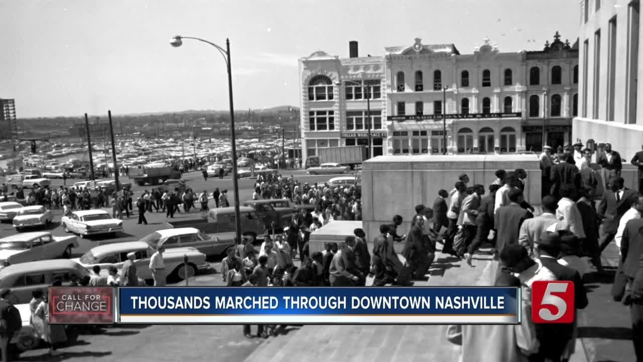 Civil rights activist applauds teens behind Nashville march