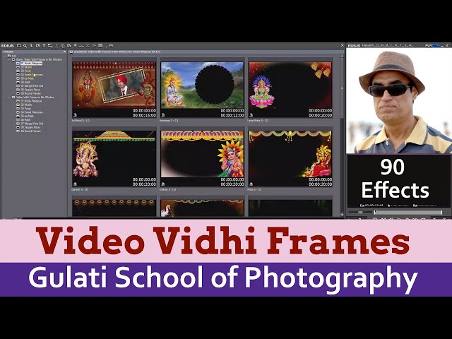 11 Vidhi Video Frames | Effects For Edius 7,8 & 9 Software | Wedding Effects |  ( 90 Frames )