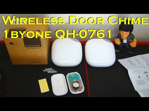 Wireless Doorbell Chime Kit with (2) AC Receivers - 1byOne QH-0761