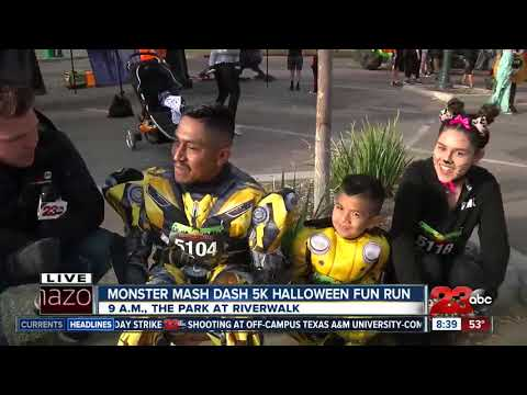 Runners Dress Up As Their Favorite Characters In The Monster Mash Dash