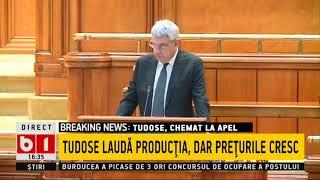 Premierul în Parlament- Mihai Tudose, niciun cuvânt despre taxe, IRONII IN LOC DE EXPLICATII
