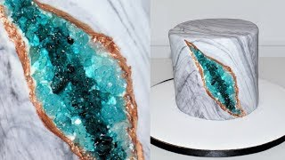 Cake decorating tutorials | how to make a geode cake | Sugarella Sweets